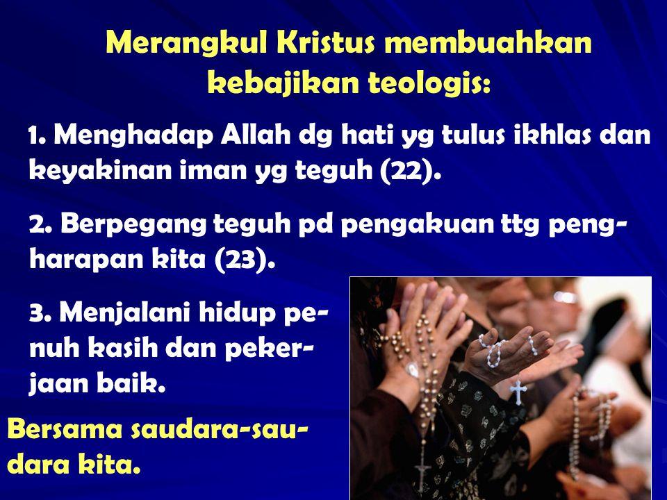 Paus Paulus VI berkata bhw dunia kita ini merana krn kurang persaudaraan.