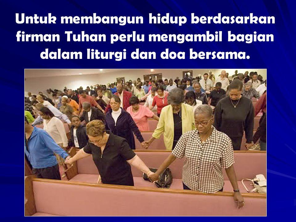 Dunia menuntut dari or kristiani kesaksian yang dibaharui akan kasih dan keseti- tiaan kpd Tuhan.