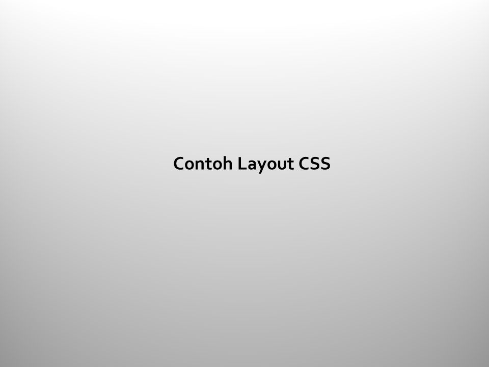 Contoh Layout CSS