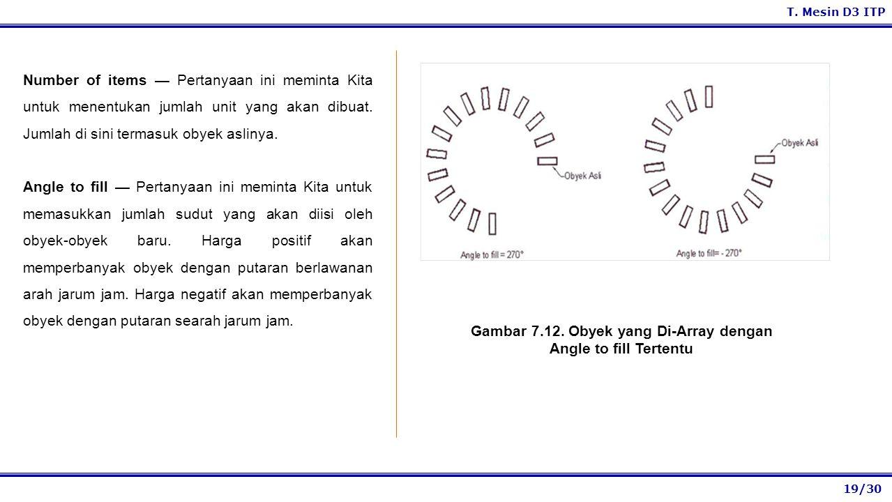 19/30 T. Mesin D3 ITP Number of items — Pertanyaan ini meminta Kita untuk menentukan jumlah unit yang akan dibuat. Jumlah di sini termasuk obyek aslin