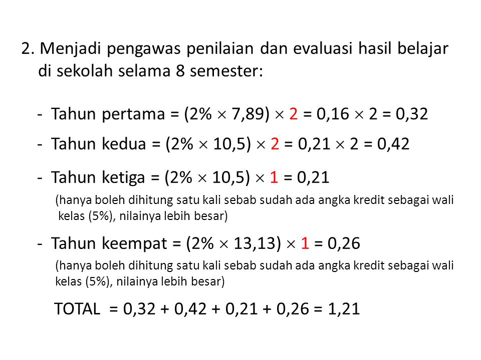 - Tahun pertama = (2%  7,89)  2 = 0,16  2 = 0,32 - Tahun kedua = (2%  10,5)  2 = 0,21  2 = 0,42 - Tahun ketiga = (2%  10,5)  1 = 0,21 (hanya b