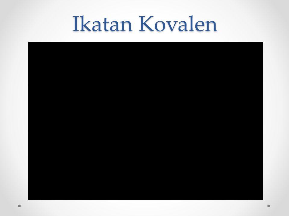 Ikatan Kovalen Tunggal Ikatan kovalen yang dibentuk oleh atom-atom non logam yang menyumbangkan 1 e - tidak berpasangan untuk berikatan.