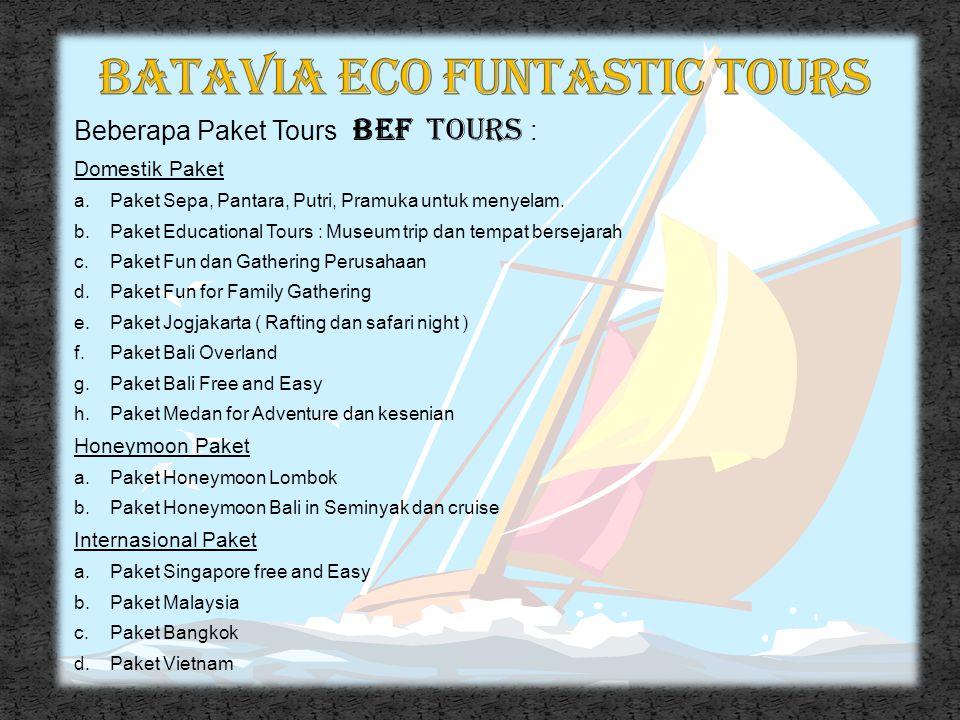 Aktivitas B E F Tours