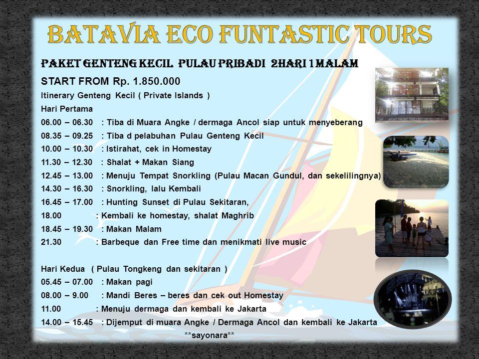 PAKET PARI DAN PASIR PERAWAN 2HARI 1 MALAM Start From Rp 500.000 ++ Itinerary Perawan Pari Hari Pertama ( Hopping Bukit Tikus, LIPI ) 06.00 – 06.30 :