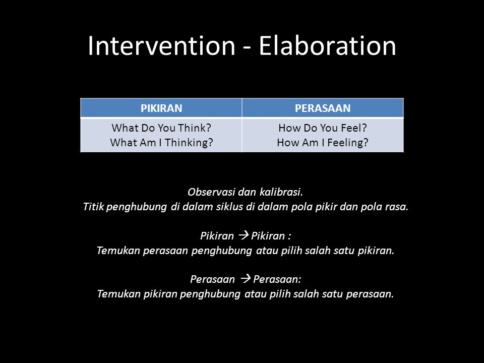 Intervention - Elaboration PIKIRANPERASAAN What Do You Think.
