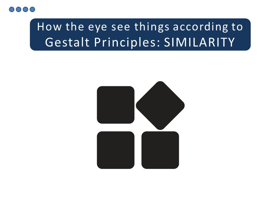 How the eye see things according to Gestalt Principles: PROXIMITY