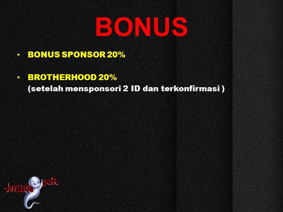 BONUS BONUS SPONSOR 20%