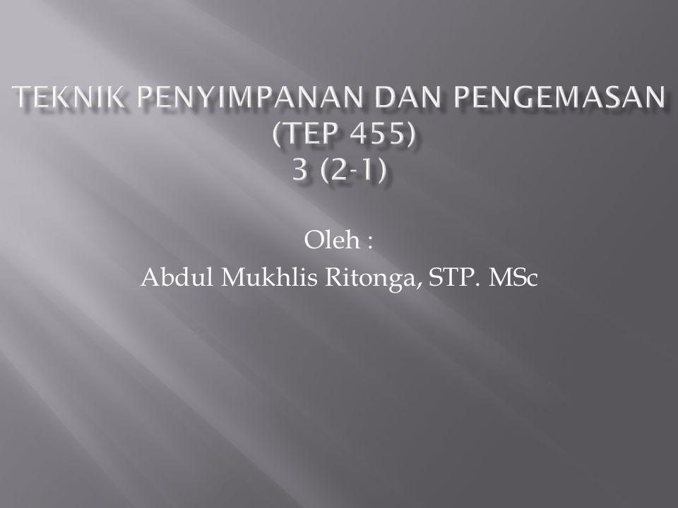 Oleh : Abdul Mukhlis Ritonga, STP. MSc