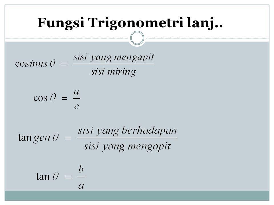 Fungsi Trigonometri lanj..