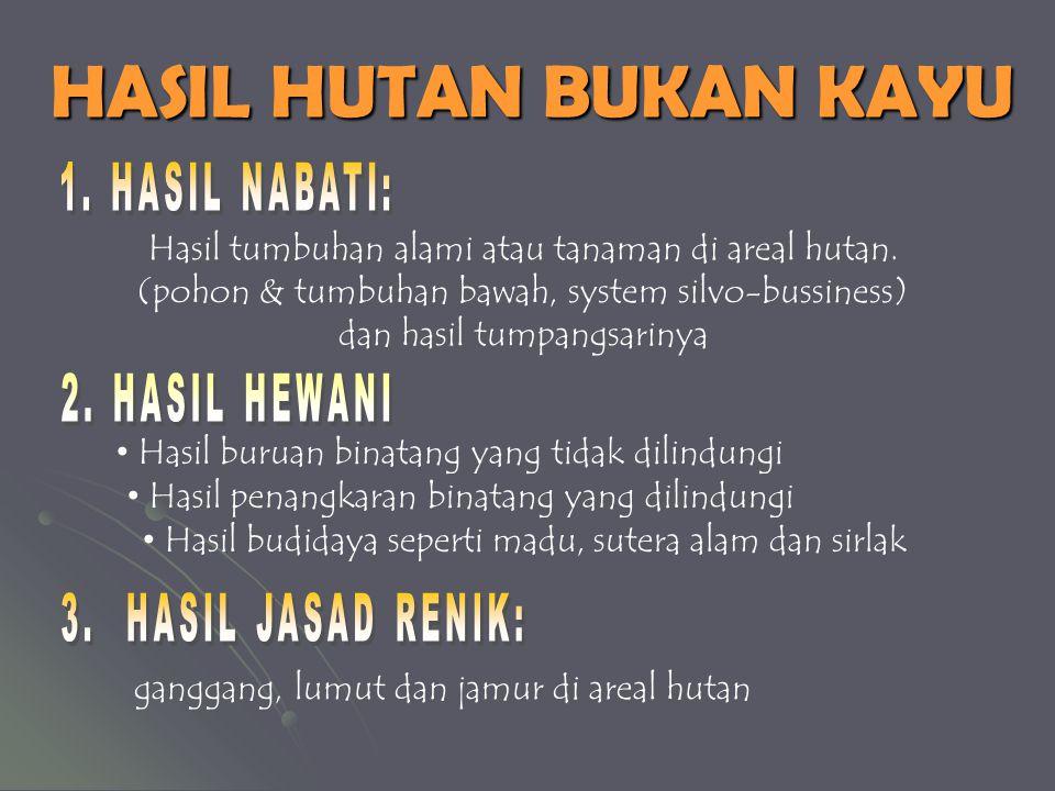HASIL HUTAN BANYAK KOMODITI HASIL HUTAN BANYAK KOMODITI 1.