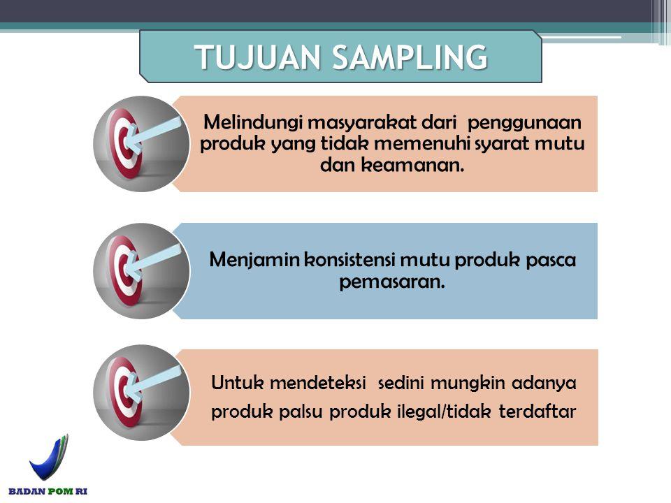 Melindungi masyarakat dari penggunaan produk yang tidak memenuhi syarat mutu dan keamanan. Menjamin konsistensi mutu produk pasca pemasaran. Untuk men
