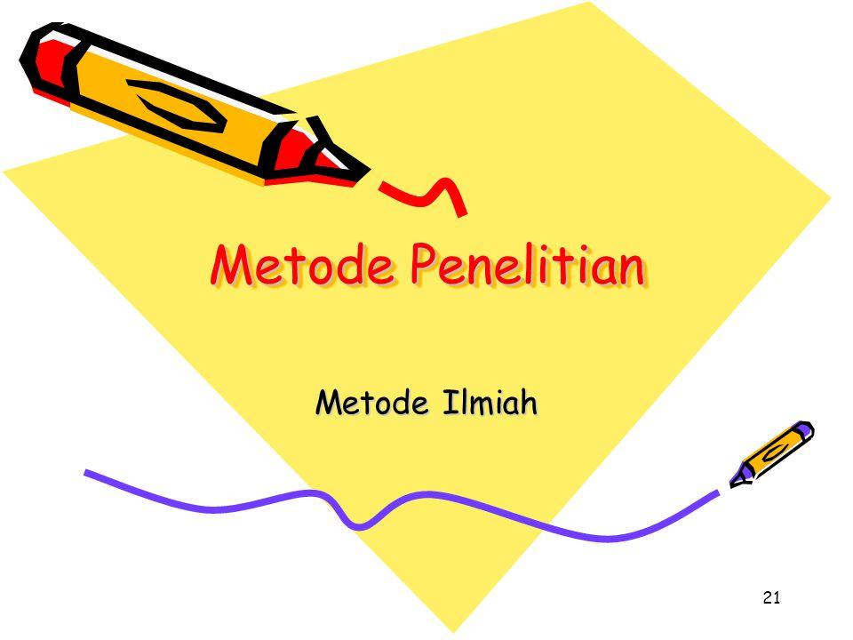 Metode Penelitian Metode Ilmiah 21