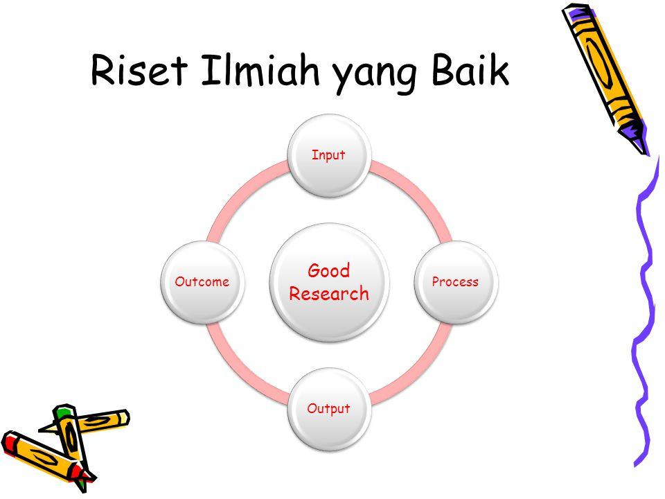 Riset Ilmiah yang Baik