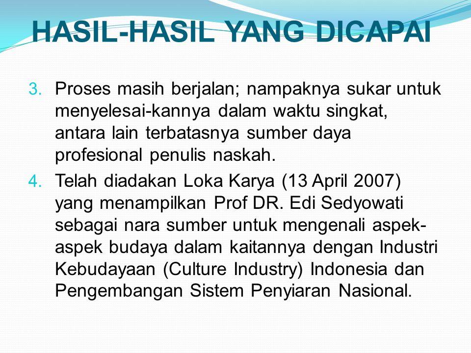 HASIL-HASIL YANG DICAPAI 3.