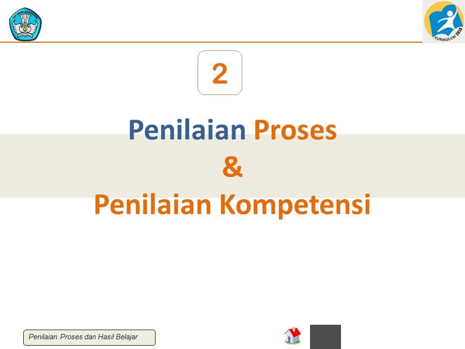 Penilaian Proses & Penilaian Kompetensi 2 Penilaian Proses dan Hasil Belajar