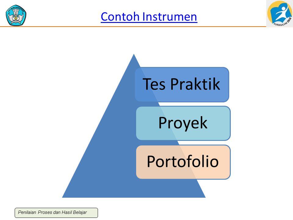 Contoh Instrumen Tes PraktikProyekPortofolio Penilaian Proses dan Hasil Belajar