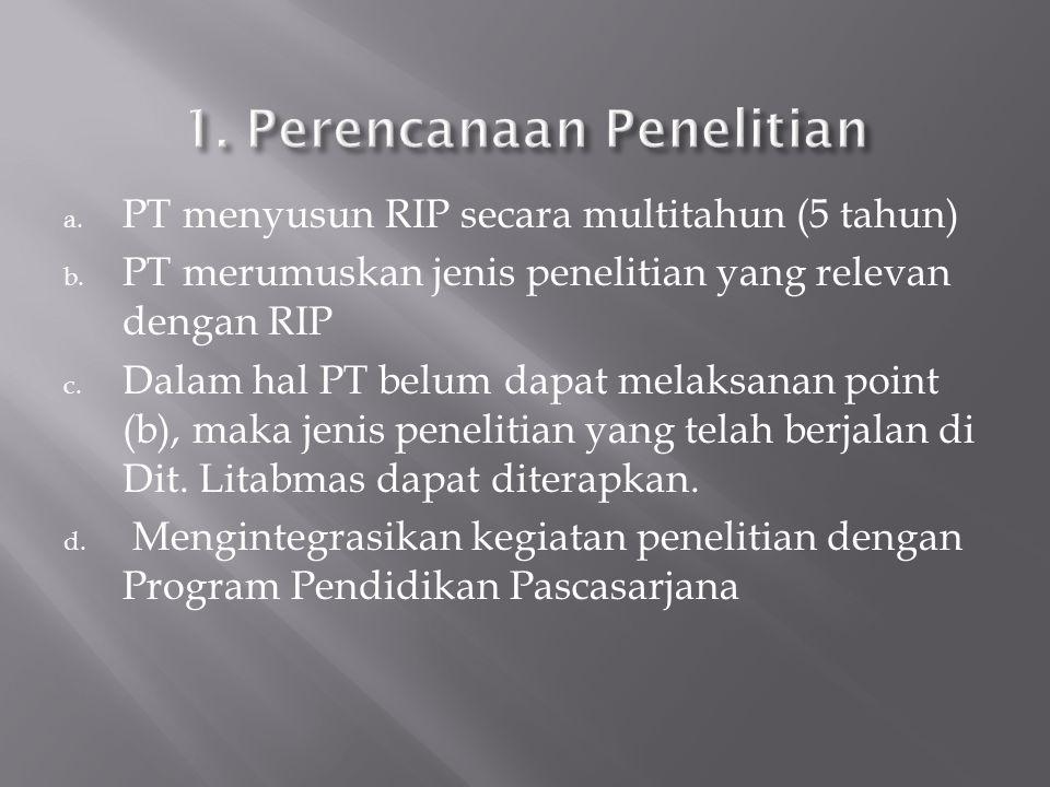 a.PT menyusun RIP secara multitahun (5 tahun) b.
