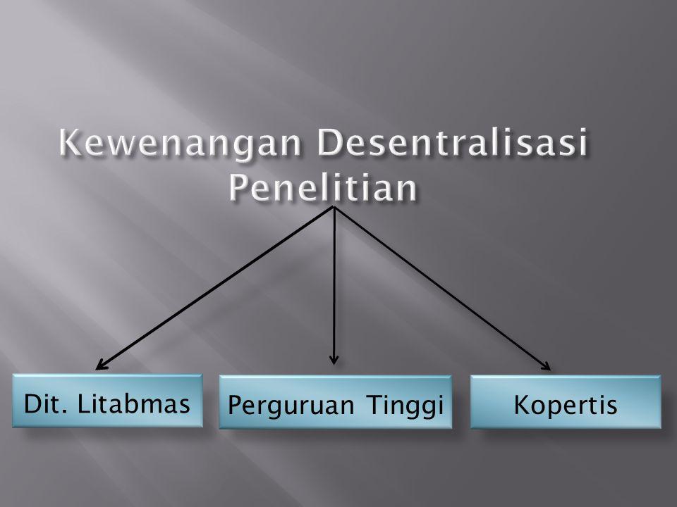 1.Menyusun norma penelitian yang mengacu pd SPMPPT 2.