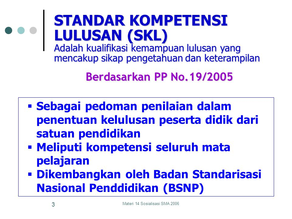 Materi 14 Sosialisasi SMA 200663 (3) Hindarkan pernyataan yang hanya berupa anak kalimat.