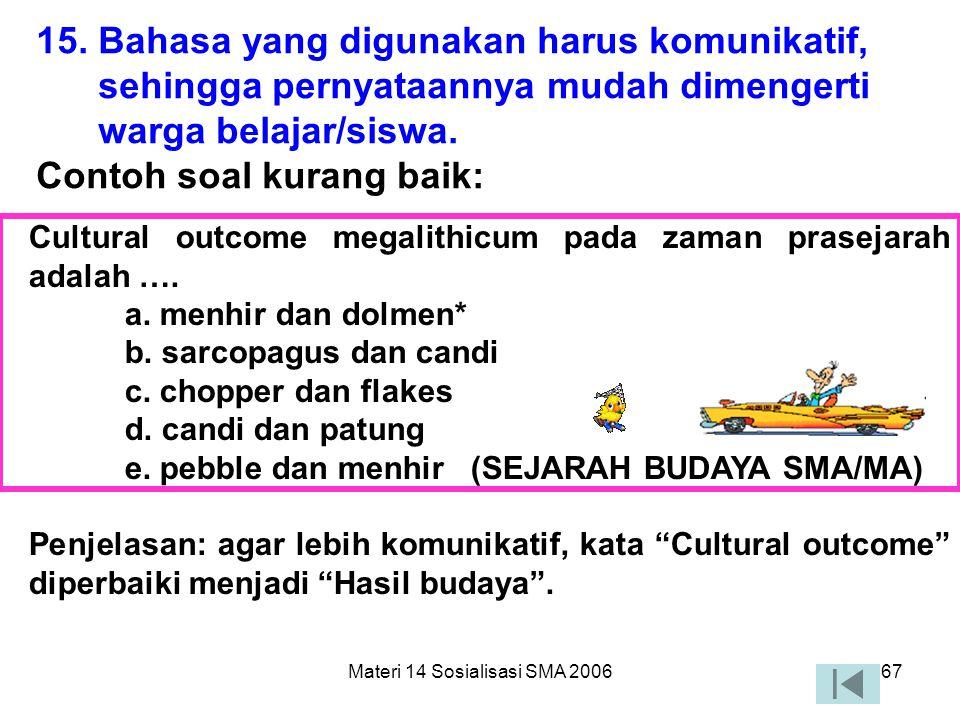 Materi 14 Sosialisasi SMA 200666 c) Pemakaian Ejaan Seorang ahli yang mengadakan pembedaan dalam proses penemuan yang tidak disengaja adalah…. a. harr