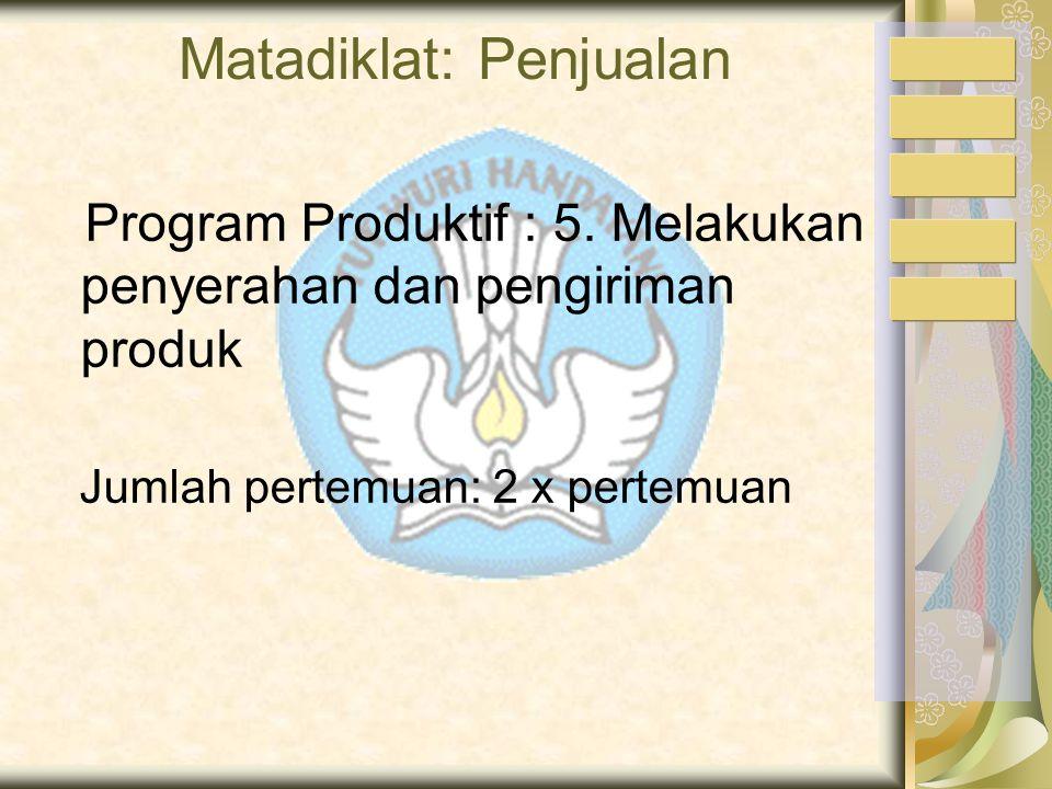 Matadiklat: Penjualan Program Produktif : 5.