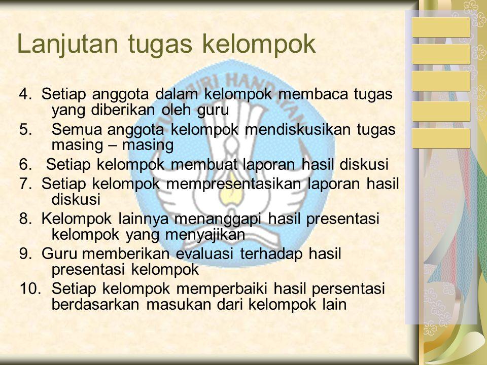 Pembagian tugas masing-masing kelompok sebagai berikut: A/ Kelompok I dan II tugasnya : Asuransi atas pengangkutan barang yang dikirim rusak / busuk m