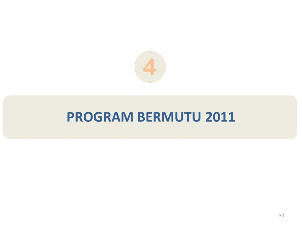 30 PROGRAM BERMUTU 2011 4
