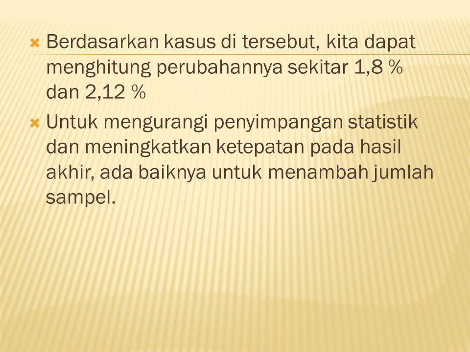 Jawab : Hasil akhir dalam laporan berbentuk :( 9,87 ± 0,0412) m s -2