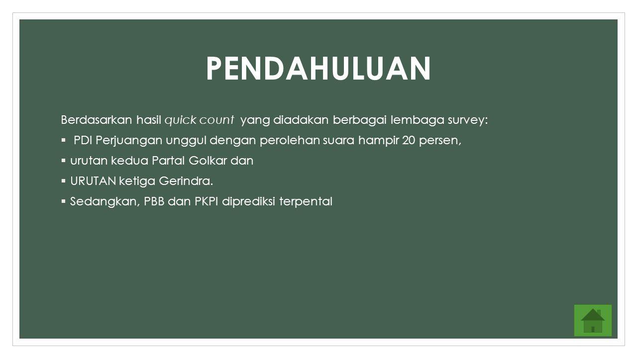 PEMBAHASAN PEROLEHAN SUARA PEMILU LEGISLATIF DARI PEMILU TAHUN 2004-2014