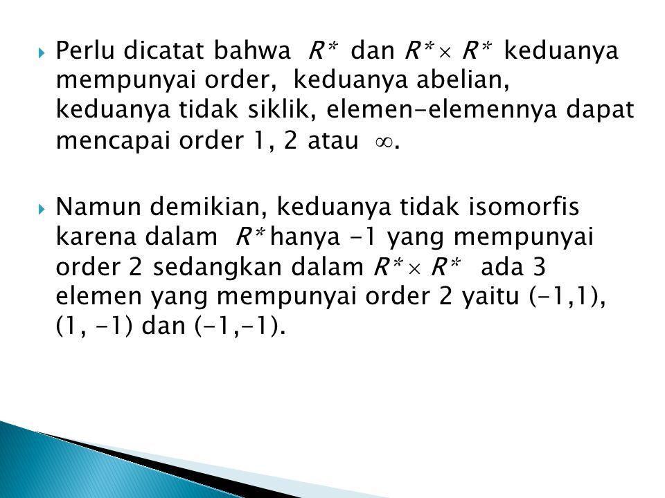 Definisi X.1  Misalkan G 1, G 2, …., G k grup. Hasil kali langsung G 1  G 2  ….