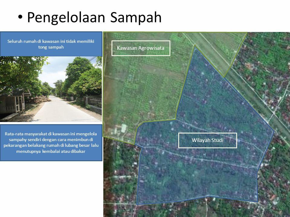 Pengelolaan Sampah Kawasan Agrowisata Wilayah Studi Seluruh rumah di kawasan ini tidak memiliki tong sampah Rata-rata masyarakat di kawasan ini mengel
