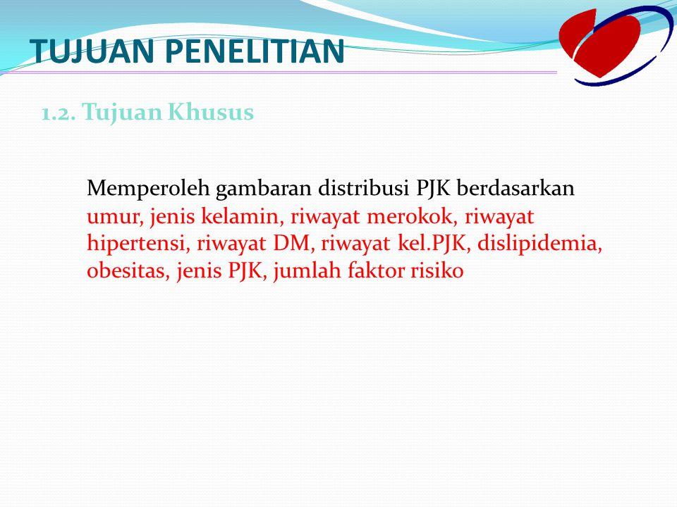 Jenis PJK yang diderita Definisi : Jenis PJK yang dimaksud ialah termasuk angina stabil, angina tidak stabil, NSTEMI dan STEMI yang didiagnosis oleh dokter ahli kardiologi.