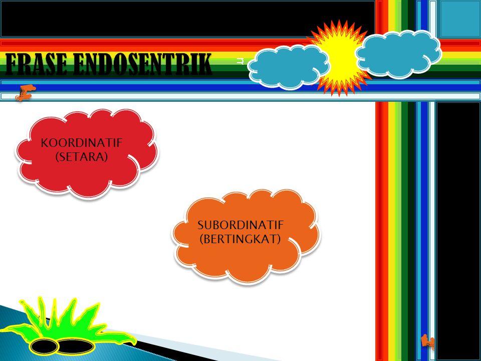 m KOORDINATIF (SETARA) KOORDINATIF (SETARA) SUBORDINATIF (BERTINGKAT)