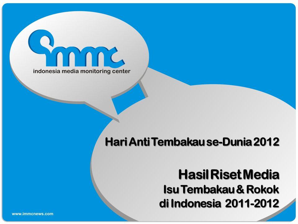Hari Anti Tembakau se-Dunia 2012 Hasil Riset Media Isu Tembakau & Rokok di Indonesia 2011-2012