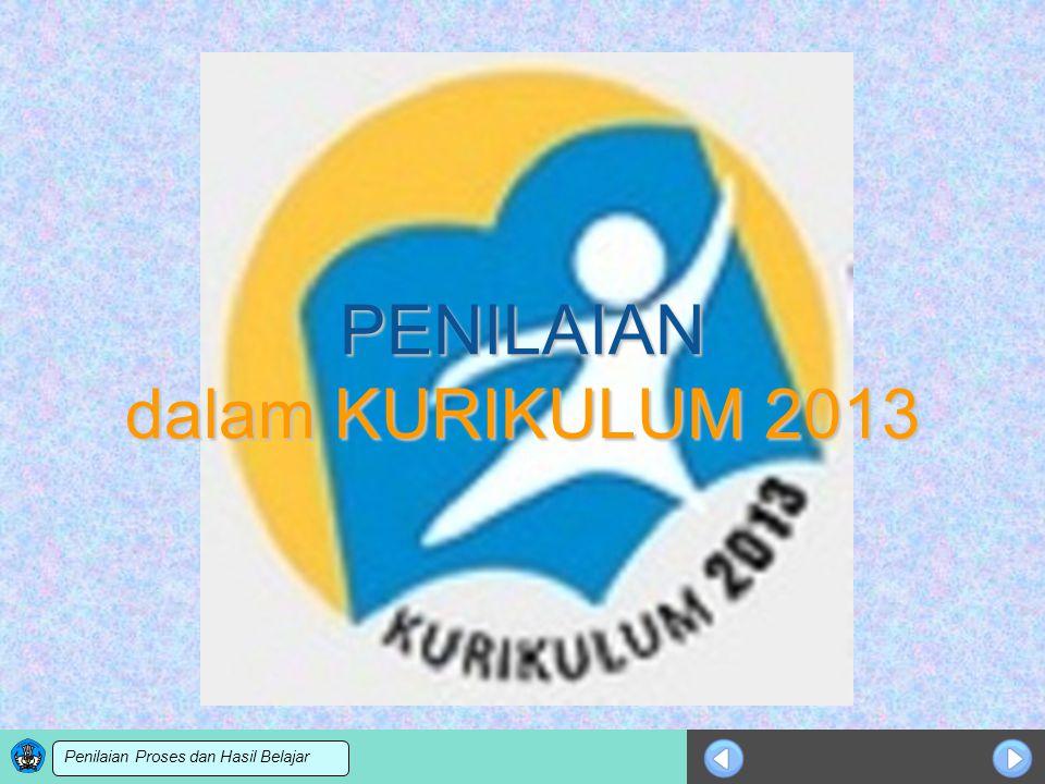 Sosialisasi KTSP PENILAIAN dalam KURIKULUM 2013 Penilaian Proses dan Hasil Belajar