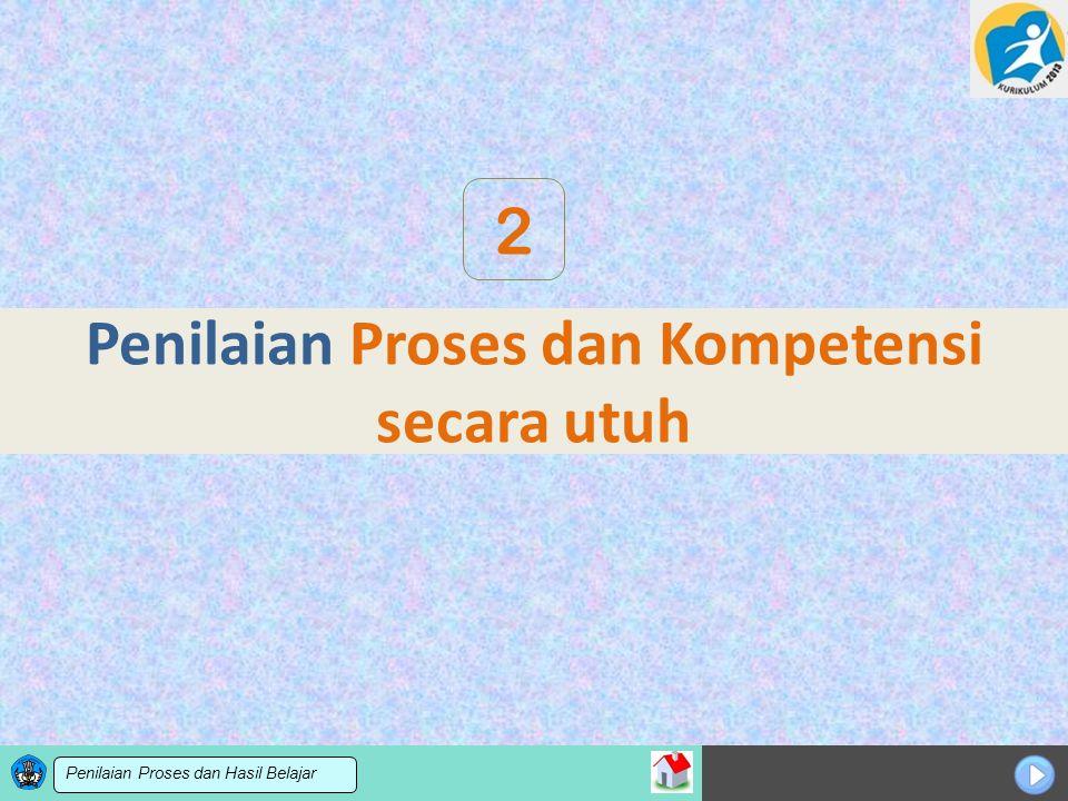 Sosialisasi KTSP Penilaian Proses dan Kompetensi secara utuh 2 Penilaian Proses dan Hasil Belajar
