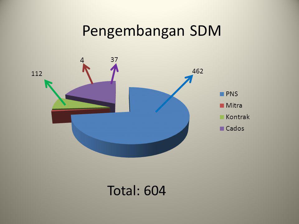 Pengembangan SDM 462 37 112 Total: 604