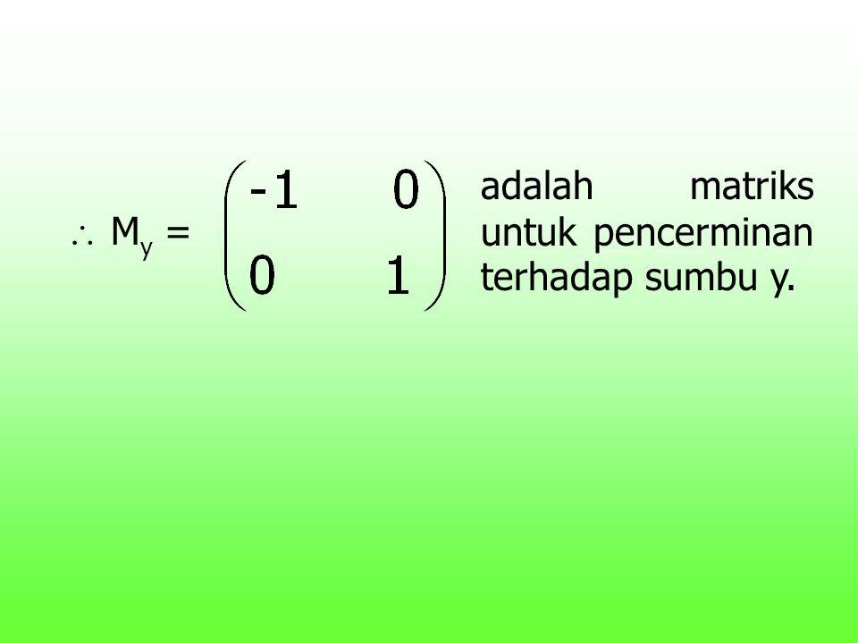  M y = adalah matriks untuk pencerminan terhadap sumbu y.