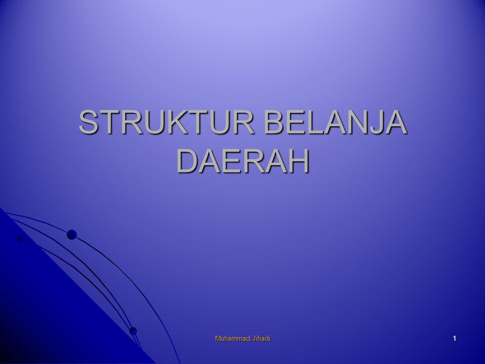 1 STRUKTUR BELANJA DAERAH Muhammad Jihadi
