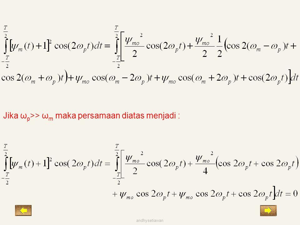 Jika ω p >> ω m maka persamaan diatas menjadi : andhysetiawan