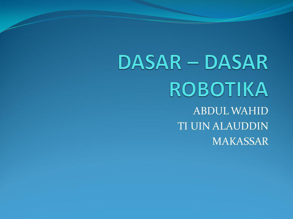 Deskripsi Mata Kuliah Penyajian matakuliah ini bertujuan memberi kesempatan kepada mahasiswa Program Studi Teknik Informatika UIN Makassar untuk mempelajari teori dasar dan aplikasi robotika di berbagai lini.