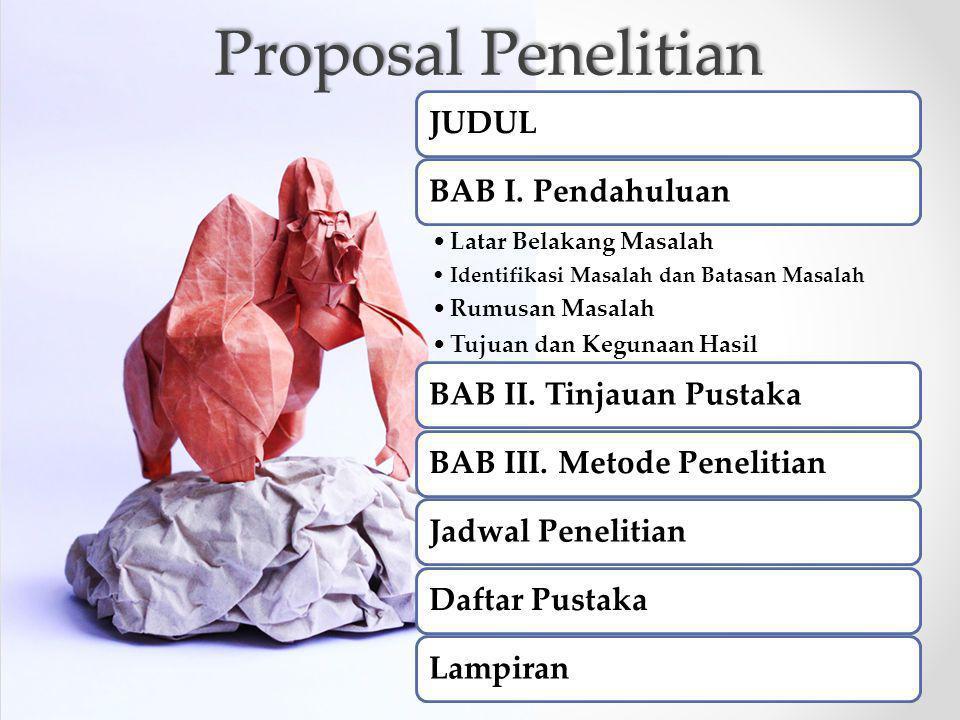 Proposal Penelitian JUDULBAB I.