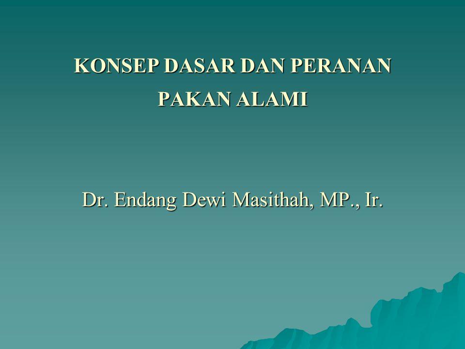 KONSEP DASAR DAN PERANAN PAKAN ALAMI Dr. Endang Dewi Masithah, MP., Ir.