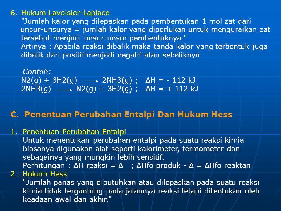 6.Hukum Lavoisier-Laplace