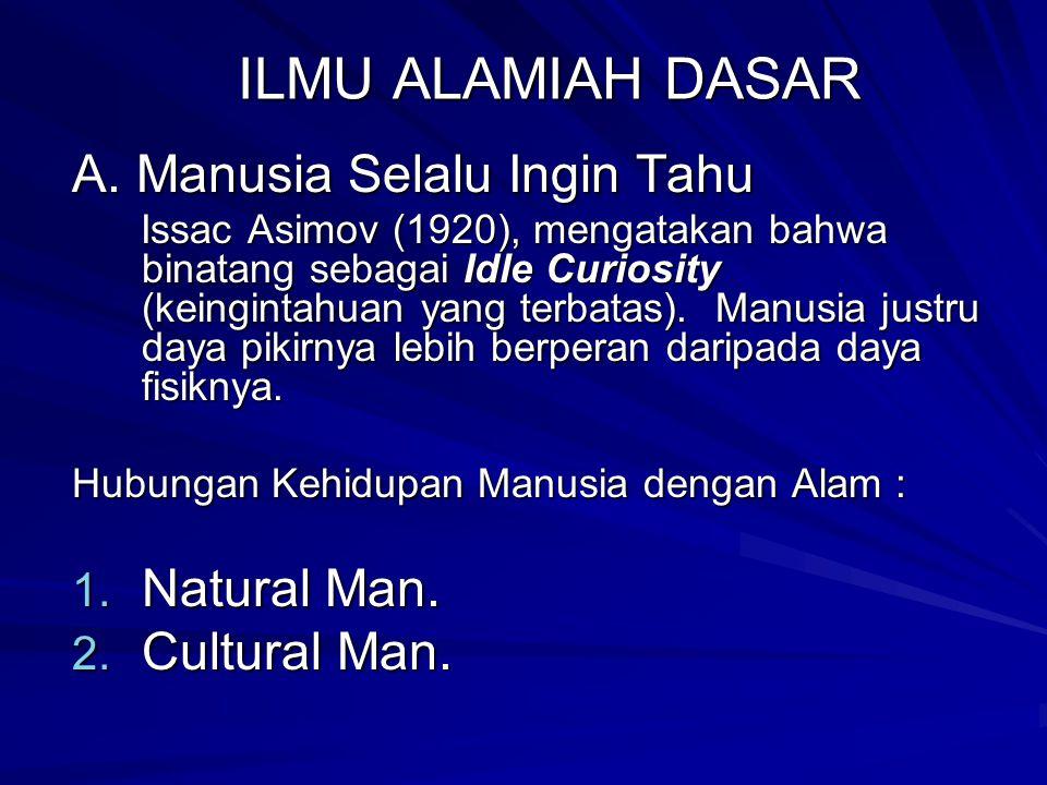 ILMU ALAMIAH DASAR A.