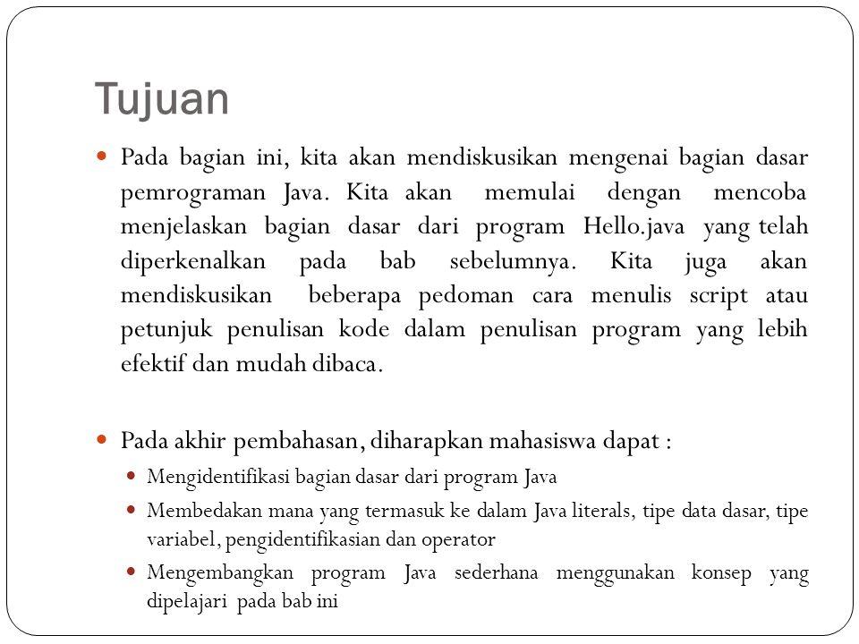Tipe Data Bahasa Pemrograman Java
