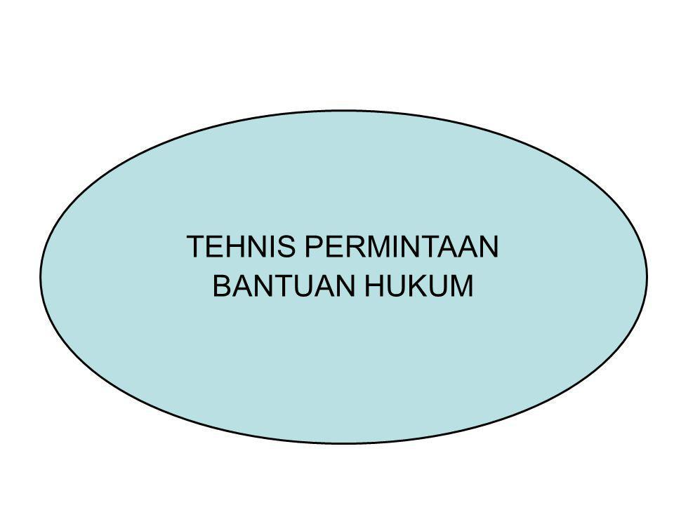 TEHNIS PERMINTAAN BANTUAN HUKUM