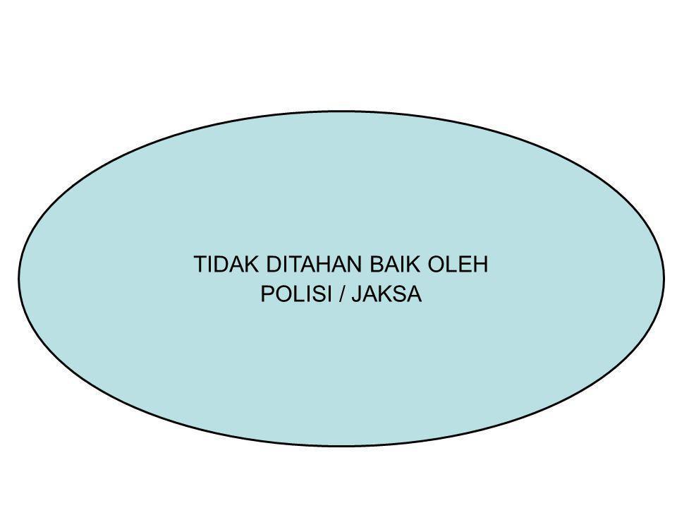 TIDAK DITAHAN BAIK OLEH POLISI / JAKSA