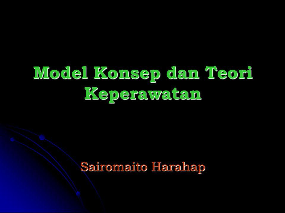 Model Konsep dan Teori Keperawatan Sairomaito Harahap