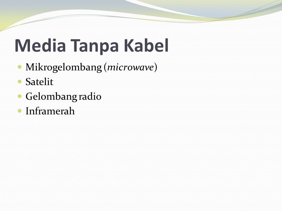 Media Tanpa Kabel Mikrogelombang (microwave) Satelit Gelombang radio Inframerah